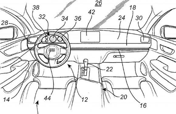Патент на Volvo за волан што може да се преместува