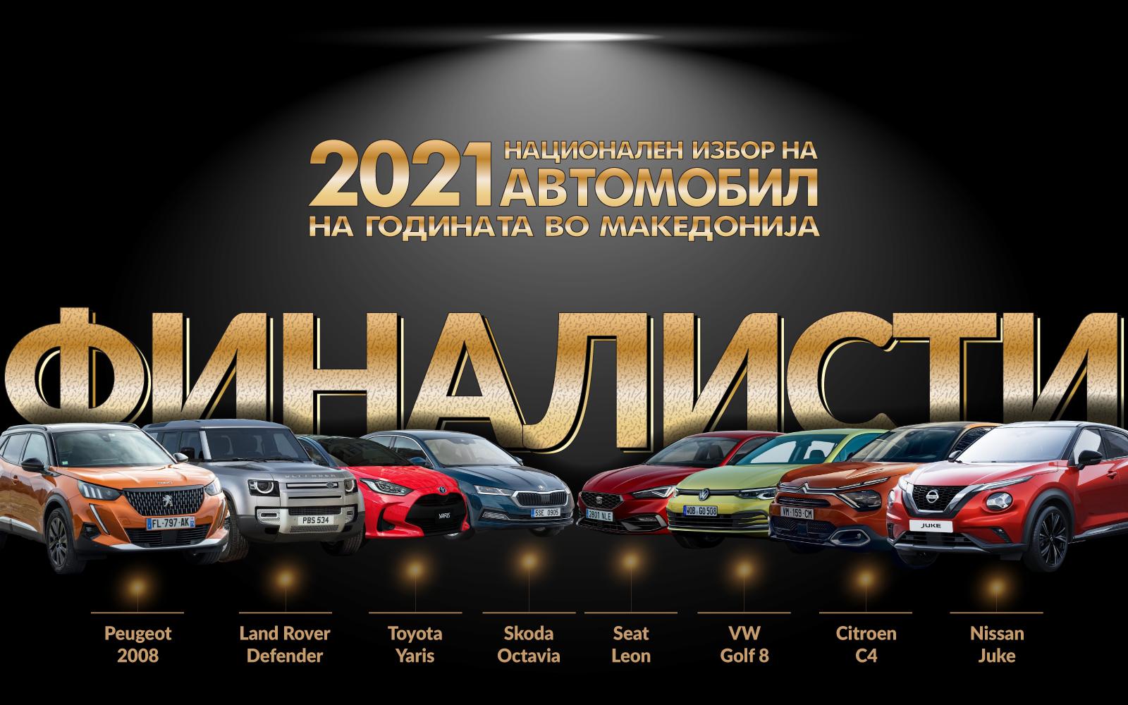 Избрани финалистите на националниот избор на автомобил на 2021 година во Македонија