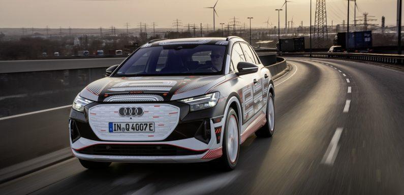 Audi Q4 e-Tron (2*видео)