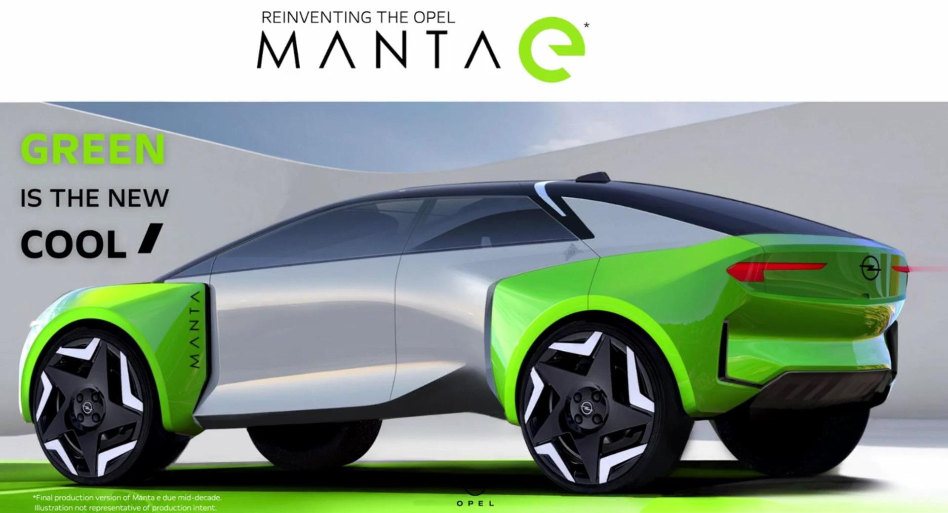 Opel Manta E (видео)